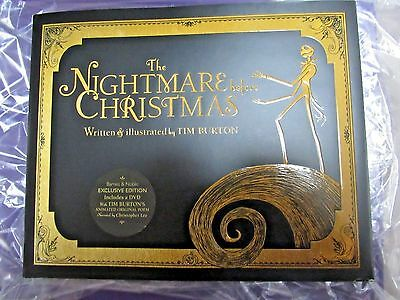 The Nightmare Before Christmas Book/DVD Exclusive Hardcover Edition NEW 20 Anniv