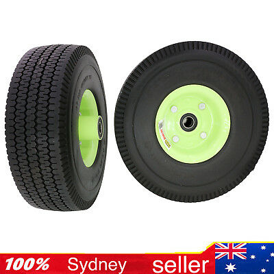 """2PCE 10"""" Trolley Wheel Puncture Proof 16mm Bearing 4.10 / 3.50-4  Flat Free"""