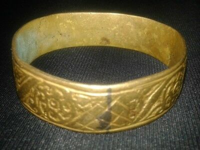 Extremely Ancient VIKING Bronze bracelet museum quality artifact VERY Stunning
