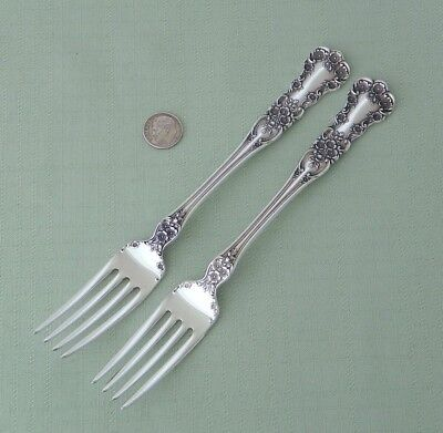 "Beautiful Gorham Sterling Silver - Buttercup - (2) Place Forks 7 1/2"" Long"