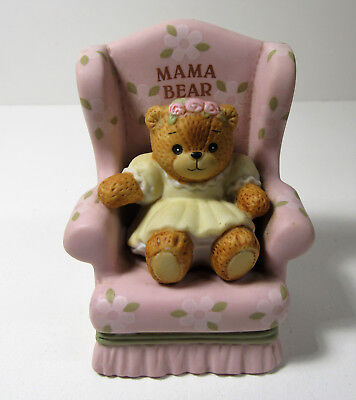 Lucy & Me ~ MAMA BEAR in Chair ~ Enesco Rigg Porcelain Figurine