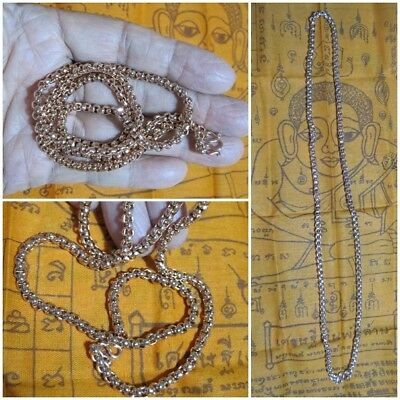 Pink Gold Necklace 23 Inches Length for Thai Amulet Pendant G36