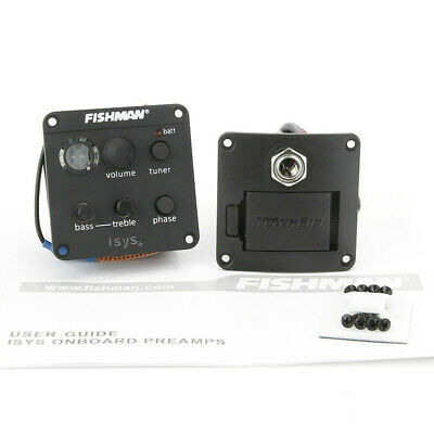 Acoustic Guitar Pickup Fishman ISYS+ 2 Band Onboard Preamp Piezo Pickup EQ Tuner