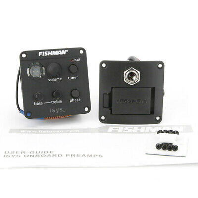 Fishman Acoustic Guitar Pickups ISYS Plus EQ Tuner Onboard Preamp System Pickups