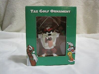 Warner Bros. Tasmanian Devil 1998 Collectible Taz Golf Holiday Ornament NIB