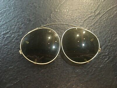 Gold Colored Sunglasses that attach to Eyeglasses