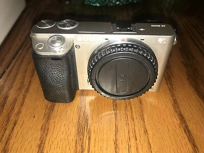 Sony Alpha a6000 24.3MP Digital Camera - Silver (Body Only) (see Description)