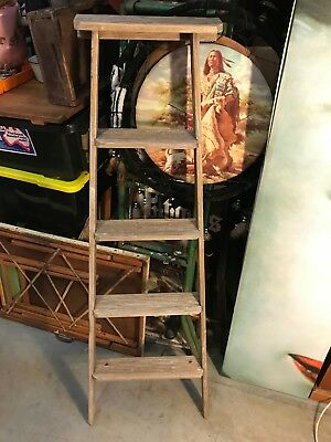Vintage Australian Oregon Step Ladder Shop Home Display