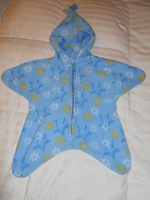 Infant Star Blanket/Sleeper with Hood - Size 0-6 months - New