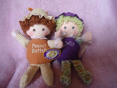 VTG  PAIR 1981 PEANUT BUTTER & JELLY American Greetings AMTOY