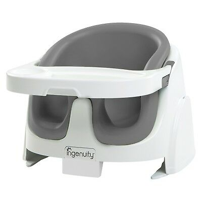 Ingenuity Baby Base 2-in-1 Booster Seat-Slate Gray