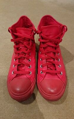 Converse Chuck Taylor leather high tops product red size 6