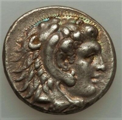 STW* ALEXANDER III (the Great) AR Tetradrachm, aXF, beautifully toned