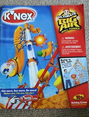 K'Nex ultimate big air ball tower instruction book