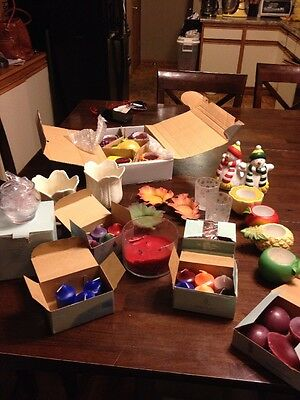 Mega PARTYLITE Lot Mixed Candles And Holders