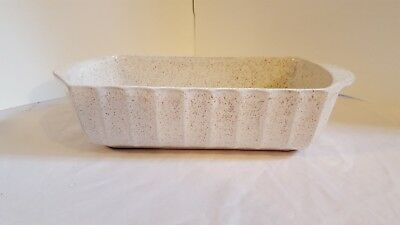 Blue Mountain Pottery Canada Loaf Bread Pan La Cuisine Graniteware Spongeware