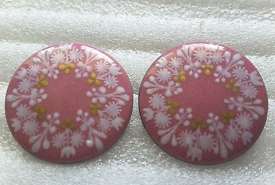 eva scherer earrings enamel austria clip vintage