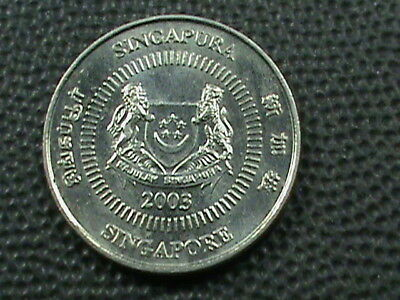 SINGAPORE   10 Cents   2003   UNC   ,   $ 2.99  maximum  shipping  in  USA