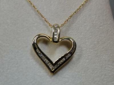 10 kt. Yellow Gold Diamond Heart Pendant with a 14kt.Yellow Gold Chain  LOWER$$$