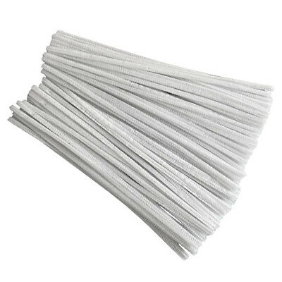 100 Pcs 30cm creation pipe cleaners, white Q7F5