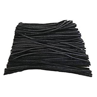 100 Pcs 30cm Black pipe cleaners A5Y2