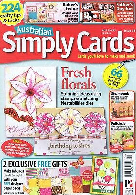Australian Simply Cards Magazine No 33 Card Making Fathers Day with FREE GIFT