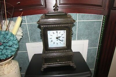 Edwardian Style Mantle Clock.  Modern Reproduction. Working Order.