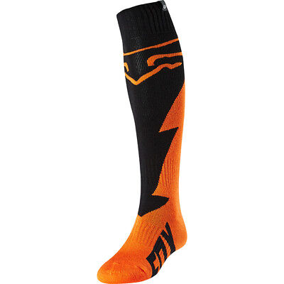Fox 2018 Fri Mastar Orange Thick Socks MX Motocross - Orange/Black