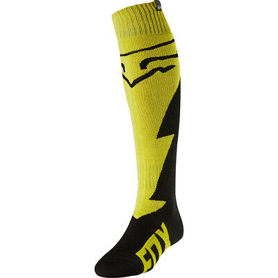 Fox 2018 Fri Mastar Yellow Thick Socks MX Motocross - Yellow/Black