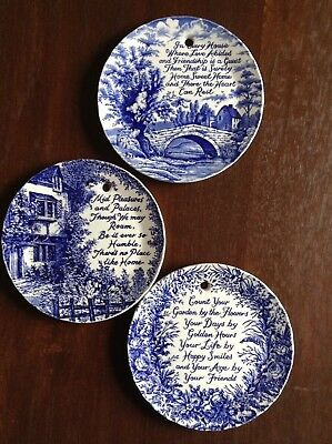 Royal Crownford Staffordshire Quotation Plate X 3