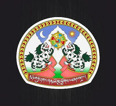 Sticker coat of arms adhesive flag bearings car sticker tibet