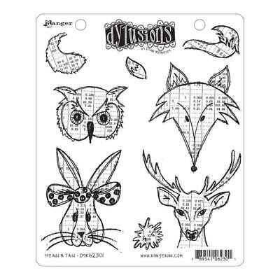 NEW Dyan Reaveleys Dylusions Cling Stamp Collections 8.5x7 Heads N Tails