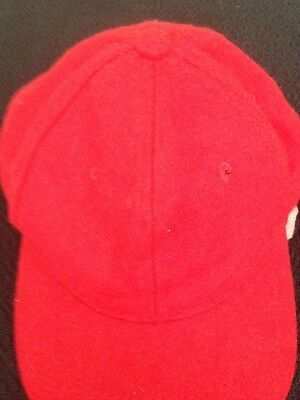 Baseball Cap 4 X Red Wool Snap Adjustable Size Quality Sport hat Men Women New