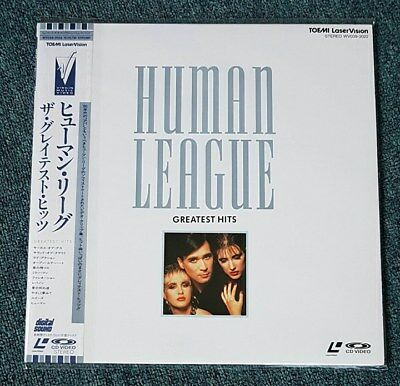 Human League - Greatest Hits 1988 Obi Japan Print Ntsc Virgin Phil Oakey Laser