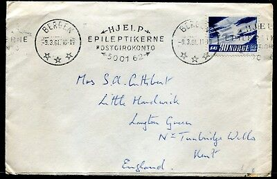 Norway cover Bergen to UK dated 9.3.61