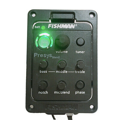 Fishman Presys Blend 301 4-Band EQ Tuner Preamp Pickup W/Mic for Acoustic Guitar