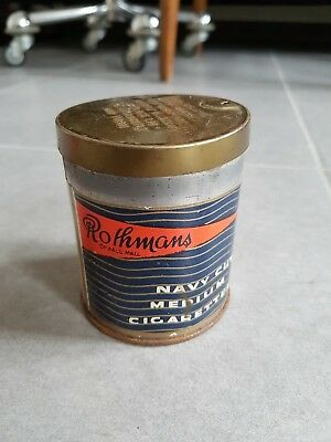 "Ancien pot à cigarettes ""Rothmans 50 Navy Cut Medium Cigarettes"" - Vintage Ad"