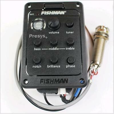 Fishman Presys+ 201 4-Band EQ Tuner Onboard Preamp Pickups for Acoustic Guitar
