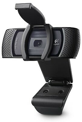 Logitech B910 HD Carl Zeiss USB Webcam With Microphone and lens cover