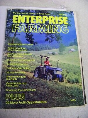 1983 1984 Enterprise Farming Ford Tractor guide for small Farms fruits cattle