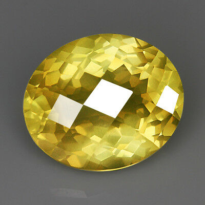 "22.3CT Lemon Citrine ""Sparkling Oval"" Precious Faceting MQLC188"