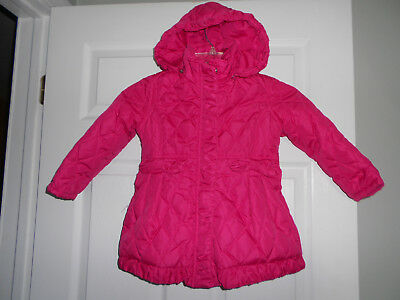 79be45b30 TODDLER GIRLS STEVE Madden Hooded Jacket Quilted Hot Pink Size 3T ...