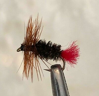 RED TAG - DRY FLY FISHING FLIES - 6 x #12