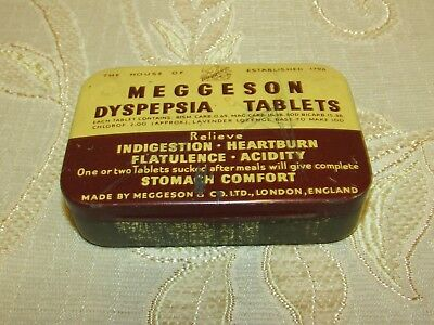 Vintage Meggeson Dyspesia Tablets Tin