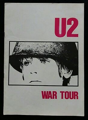 U2 War Tour 1983 Concert Programme (Rare Uk Tour) Original Ex Cond. 35 Years Old