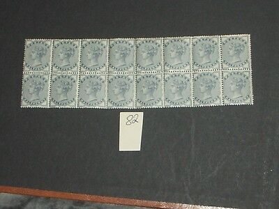 Queen Victoria half penny stamps block of 16 all mint never hinged full  gum