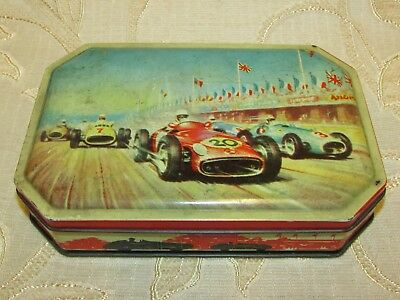 Vintage 'Car Race'  Made In England By Arthur Holland Tin