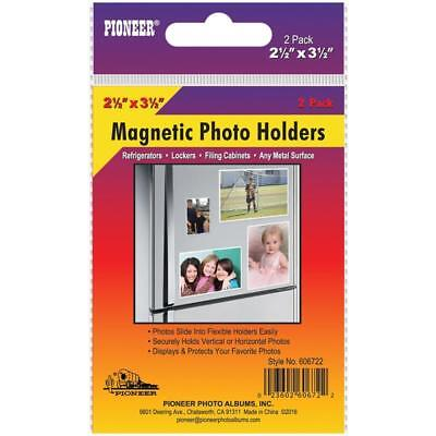 NEW Magnetic Photo Holders 2 pack 2.5X3.5