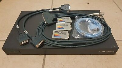 Cisco 2500 Frame Relay Router (2520) + Cables, Transceivers - used for CCNA Lab