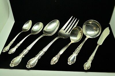 Lot Of 7 Rogers International Silver Old Charleston Serving Pieces